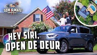 TOUR DOOR MIJN AMERIKAANSE HUIS! 🇺🇸 (alles automatisch) | Tom & Mats in Amerika #3