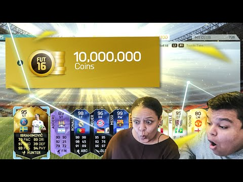 MY MUM PACKS THE BEST LEGENDS IN A 10 MILLION COIN PACK - FIFA 16 PACK OPENING