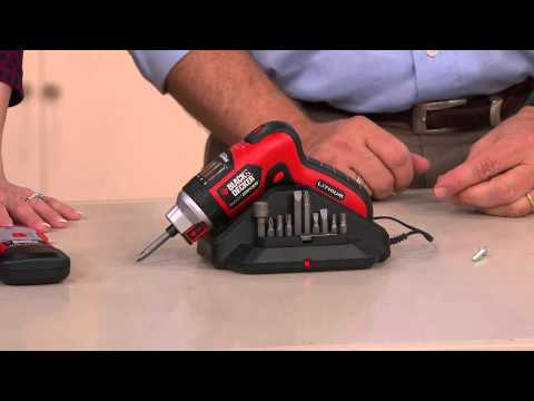 Black & Decker Rechargeable Lithium Screwdriver w/Stud Sensor with Mary Beth Roe