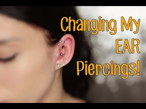 Changing My EAR Piercings! | Rook, Tragus, & Helix!