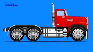 Машинки. Собираем машинку - грузовик. Развивающий мультик.