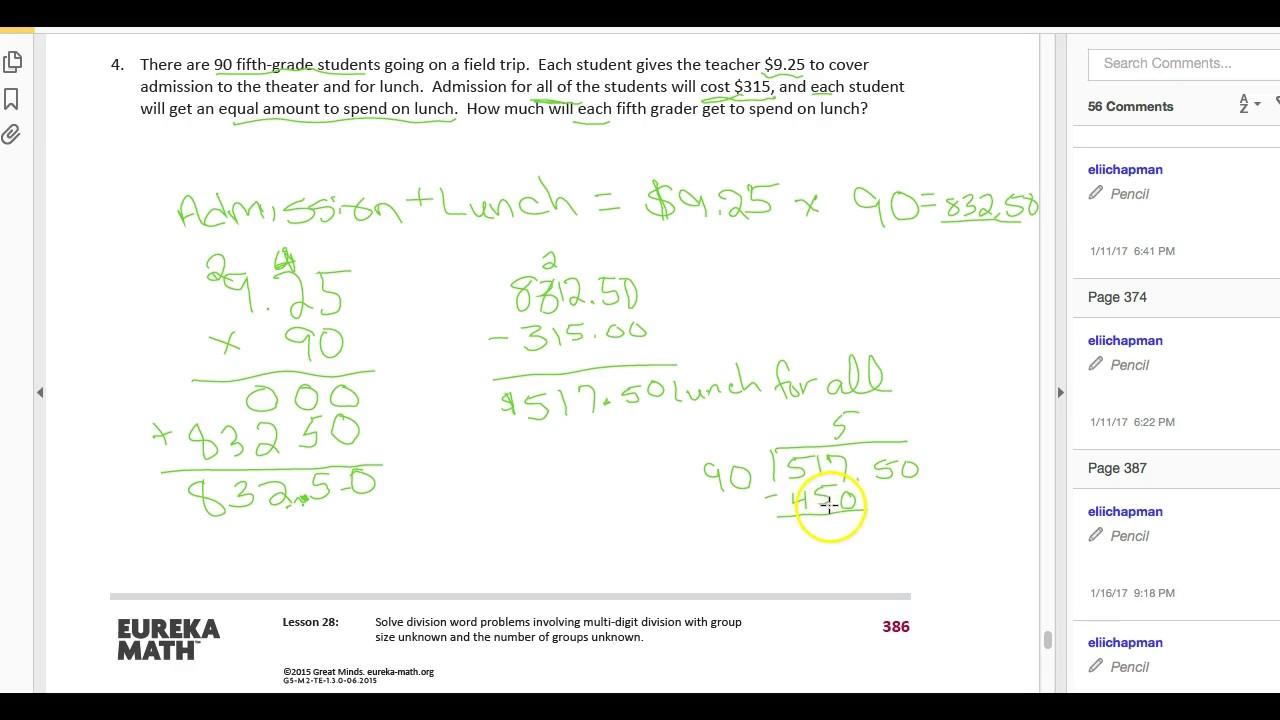6th grade module 4 lesson 28 by Lori Gripton