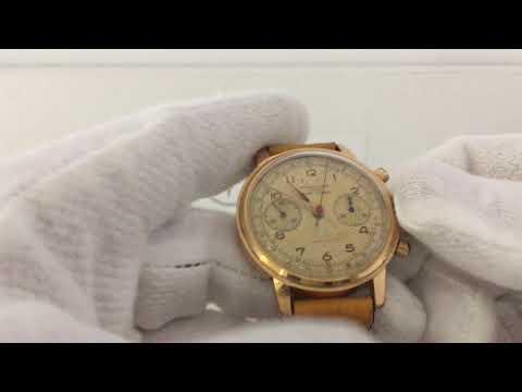 Vintage Chronographe Suisse Oversized Watch Landeron 48