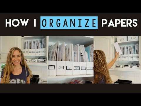 How to Organize Papers with Magazine Holders (Konmari Inspired)