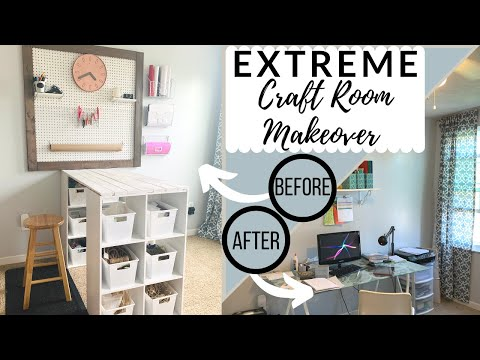 ✂️EXTREME Craft Room Makeover!!! ✂️