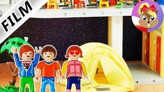 Playmobil Film polski | Spanie CAŁĄ NOC  w namiocie NA BOISKU SZKOLNYM? | Serial Wróblewscy