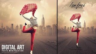 Erstellen Sie Dieses Ich Bin Frei, Kunst-Konzept-Bildbearbeitung In Photoshop