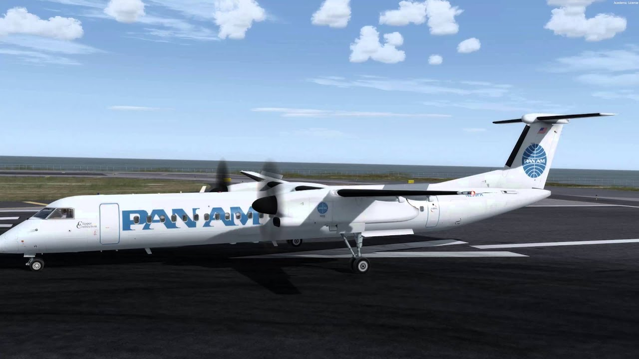 Majestic DHC-8 Q400 Pro - RNAV Approach - Cat & Duck Navigation