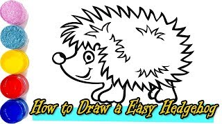 How to Draw a kawii Hedgehog  and Easy  Squishmallow