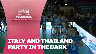 Italy and Thailand party in the dark - FIVB World Grand Prix