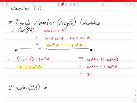 Double and Half Angle Identities (111.9.3)