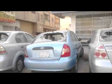 Riydah Manfuha clashes between the police and Ethopions thay broken the cars !