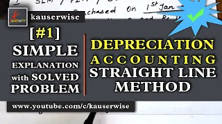 vuclip [#1]Depreciation accounting||Straight line method||simple method to solve a problem||Kauserwise