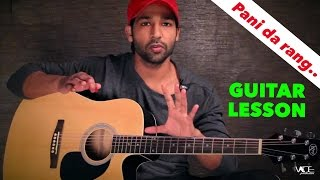 Pani Da Rang - Full Guitar Lesson For Beginners By VEER KUMAR