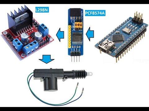 Arduino Nano + расширитель пинов + управление двигателем актуатора