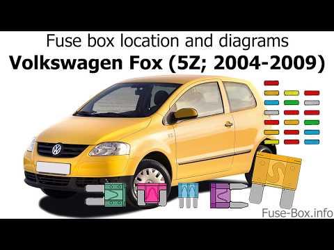 [DIAGRAM_3NM]  Fuse box location and diagrams: Volkswagen Fox (2004-2009) - YouTube | Fox Fuse Box |  | YouTube