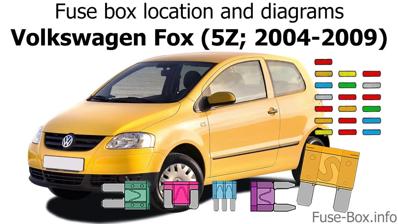 medium resolution of fuse box location and diagrams volkswagen fox 2004 2009 youtube fox body mustang fuse box location fox fuse box