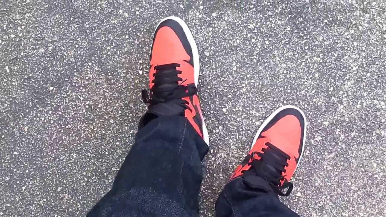 free shipping 00b65 92541 Air Jordan 1 Max Orange on feet