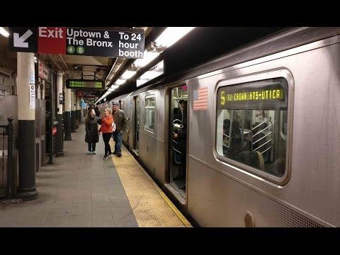 IRT Lexington Avenue Line: Brooklyn & Bronx Bound R142/A (5) Train @ Wall Street
