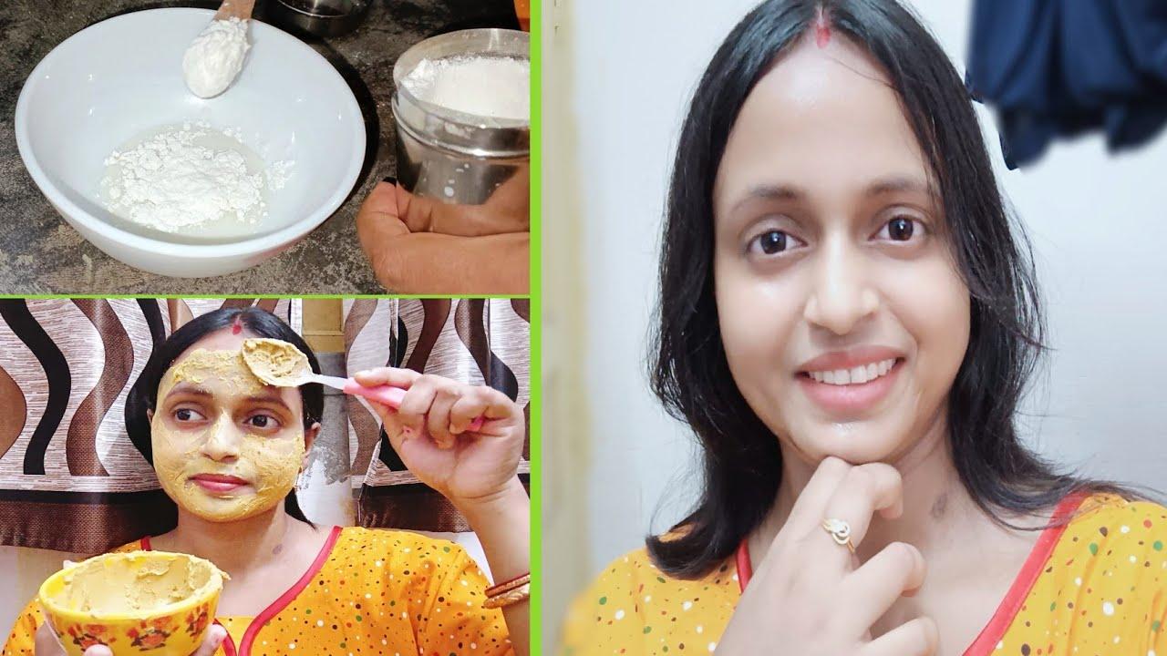 পুজোর আগে বাড়িতেই করে ফেললাম ফেসিয়াল || how to do facial at Home..