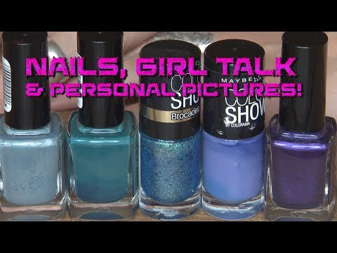 ASMR ~ nail polishing, girl talk, personal stories and photo's [part 1] Soft Spoken