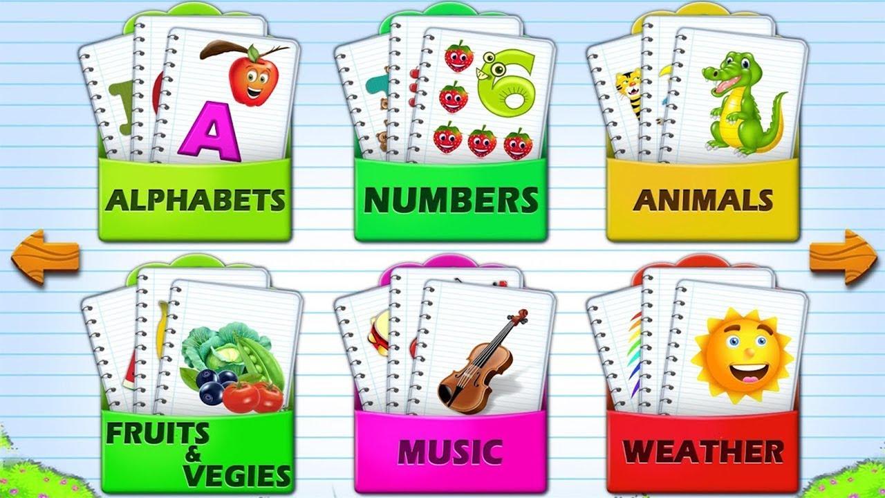 Kids Flashcards - Preschool Reading Flash Cards - YouTube