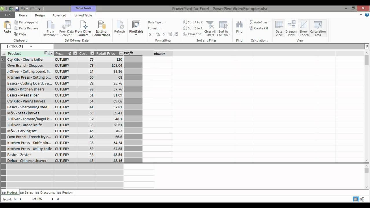 Using the DAX function RELATED in the Power Pivot Add-in