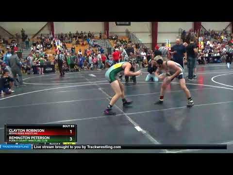 Middle School 114 Remington Peterson Pueblo County Wrestling Club Vs Clayton Robinson Rough Rider