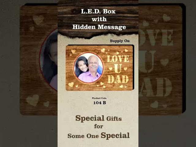LED BOX WITH HIDDEN MESSAGE PHOTO 6X8INCH PHOTO FRAME   PERSONALIZED PHOTO GIFTS THE WEDDING FOREVER