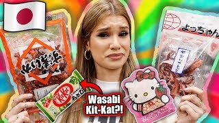 TRYING WEIRD JAPANESE SNACKS | Tokyo Candy Taste Test!