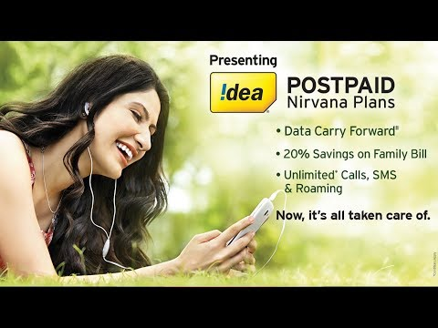 Idea Postpaid Nirvana Plans - When it's all taken care of!