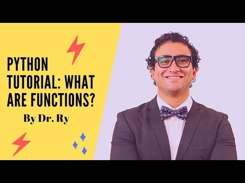 Python Tutorial on Functions | Part 1 What are Functions? | By Dr. Ry @Stemplicity thumbnail