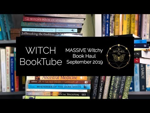 Witches BookTube: MASSIVE Witchy Book Haul September 2019