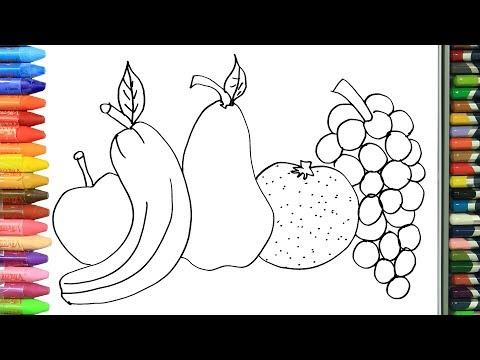 RENK RENK MEYVELER nasıl yapılır nasıl çizilir   Boyama ve resim yapma videoları