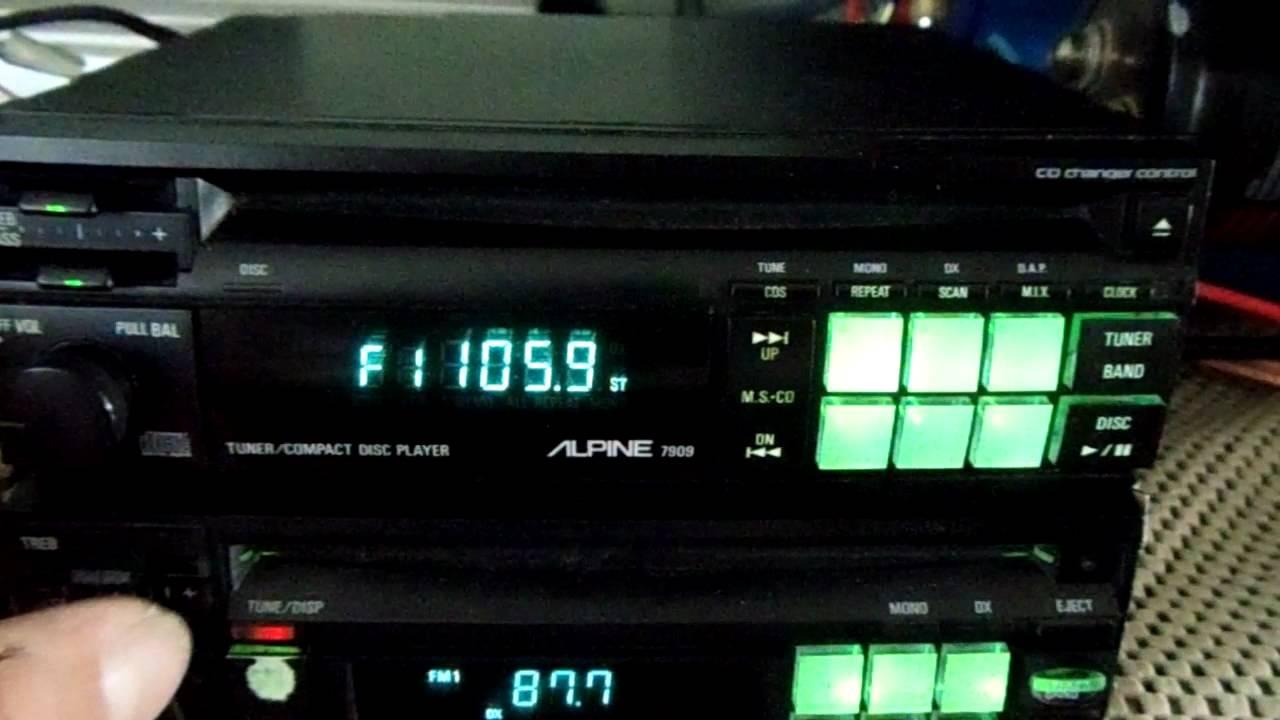Alpine 7909 Car Cd Player Rare Old School Best