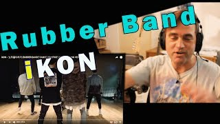 reaction to ikon rubber band dance practice kpop may 2019 omg so happy