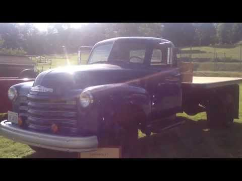 1950 Antique Old 4400 Chevy Chevrolet Dump Flat Bed Truck