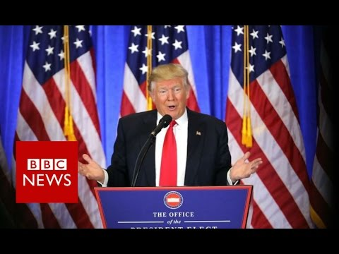 Donald Trump press conference highlights - BBC News