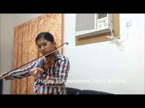Aye Mere Watan Ke Logo - on Violin - Indian Patriotic Song by Malavika Harish