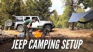 Jeep Camping Setup ⛺️Pike National Forest 🌲Dirt Road 211 🐾 Wigwam Trail Hayman Fire Area