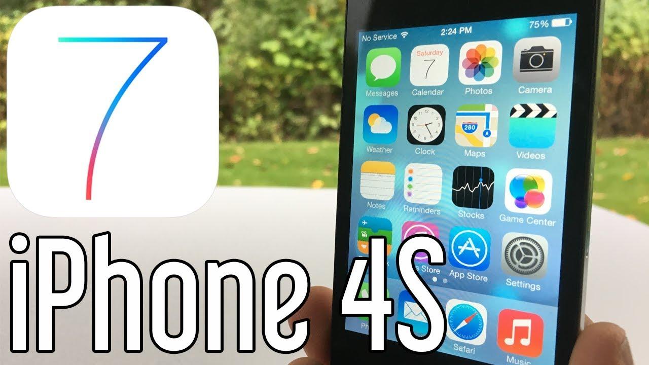 iPhone 4S running iOS 7 in 2017! (iOS 7.0.4)