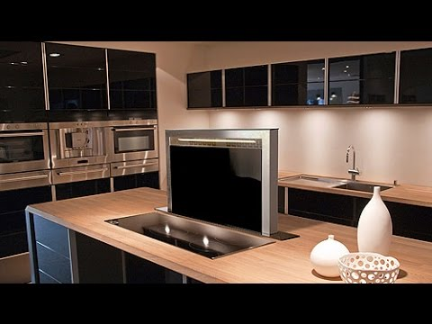 black stainless steel kitchen brushed nickel faucets dwn glass downdraft extractor - luxair ...