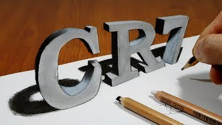 3D Trick Art on Paper   CR7   Optical Illusion