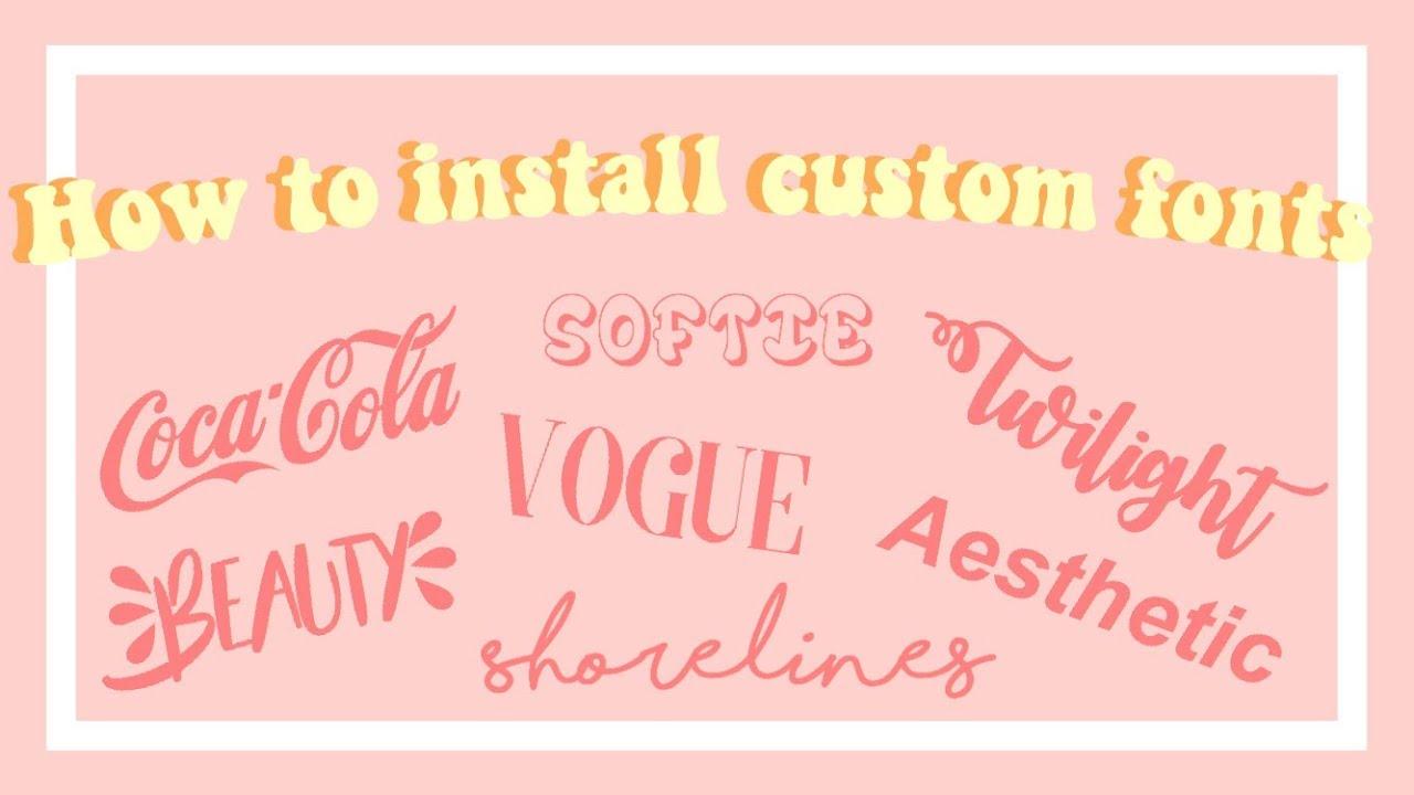 Download Aesthetic Fonts - Largest Wallpaper Portal