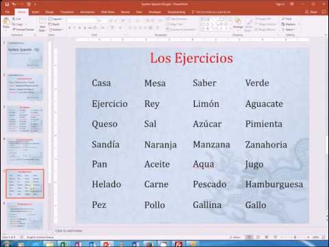 Learn Espanol Systemetically - 02 - Pronunciacion
