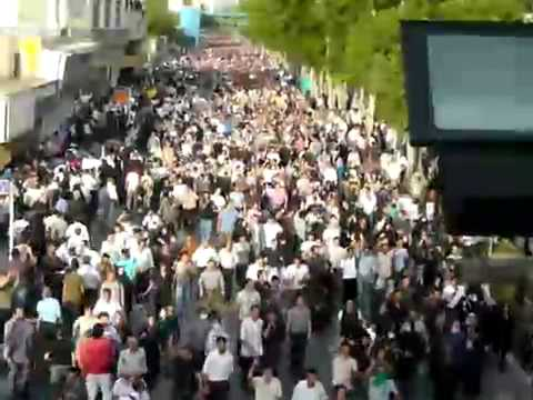 "2009 Iranian Revolution - crowd chants: ""You (Ahmadinejad) are the enemy of Iran"" June 15"