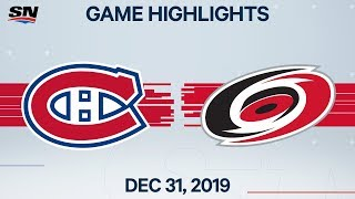 NHL Highlights   Canadiens vs. Hurricanes - Dec. 31, 2019