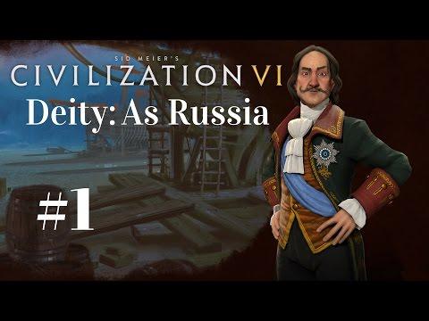 What A Start!   Civilization VI On Deity - Russia: Part 1   Civ 6 Full Release
