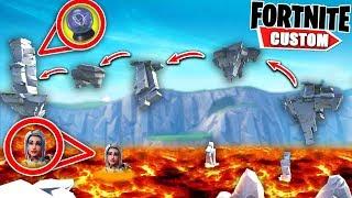 Fortnite HARDEST Lava PARKOUR deathrun.. will I EVER complete THIS JUMP?! (Fortnite Creative Mode)