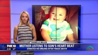 Người mẹ nức nở nghe tim con mình đập sau khi ghép tim cho bé khác